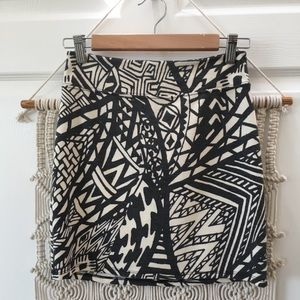 UO Silence + Noise Abstract Stretch Mini Skirt